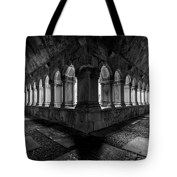 Tote Bag featuring the photograph Quin Abbey by Dennis Hedberg