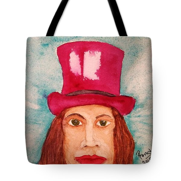 Tote Bag featuring the painting Quinacridone Hat by Rand Swift