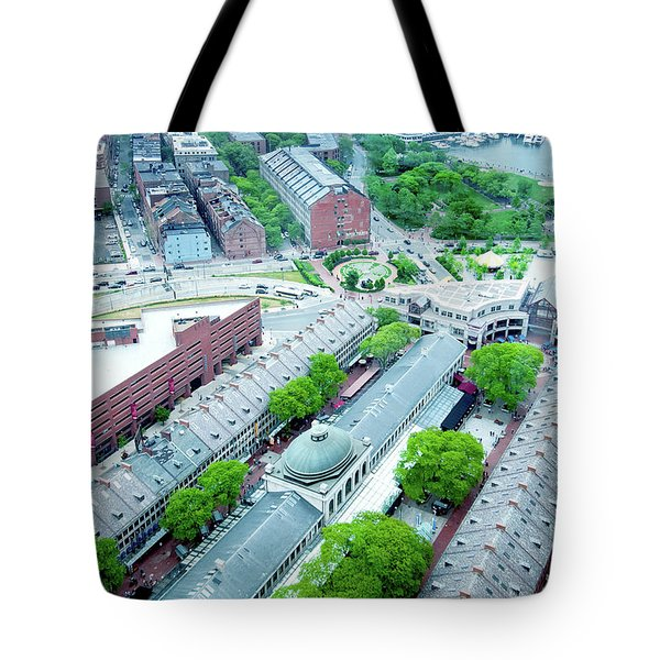 Tote Bag featuring the photograph Quincy And Columbus by Greg Fortier