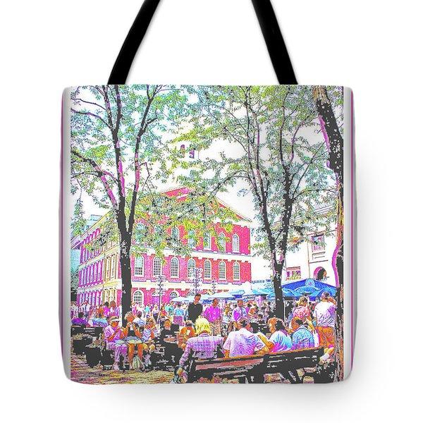 Quincy Market, Boston Massachusetts, Poster Image Tote Bag