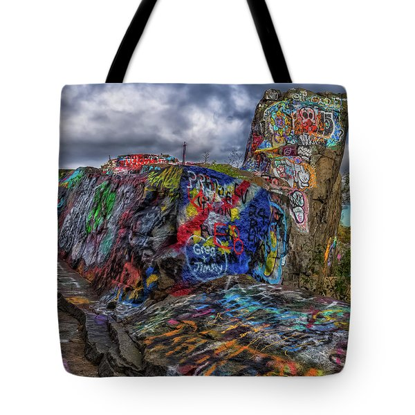 Quincy Quarries Graffiti Tote Bag by Brian MacLean