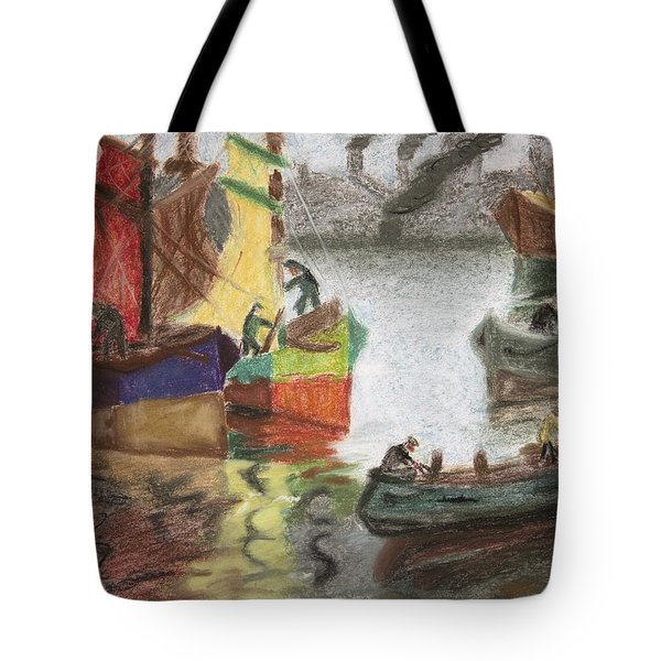 La Boca Caminito Tote Bag by Silvia Bruno