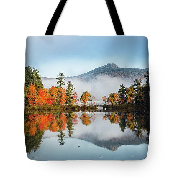 Mount Chocorua Fall Reflection Tote Bag
