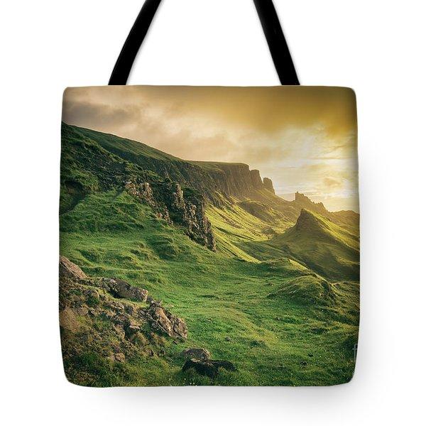 Quiraing Landscape 1 Tote Bag