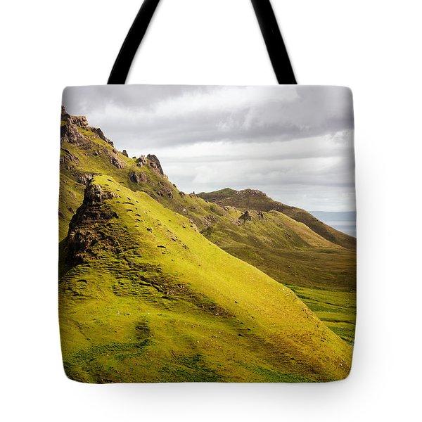 Quiraing Mountains Tote Bag