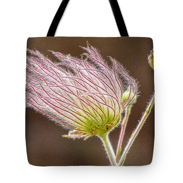 Quirky Red Squiggly Flower 1 Tote Bag