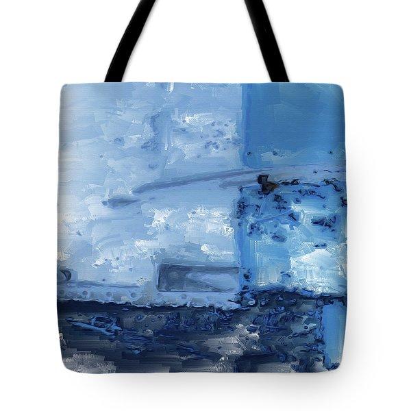 Quite Blue Tote Bag