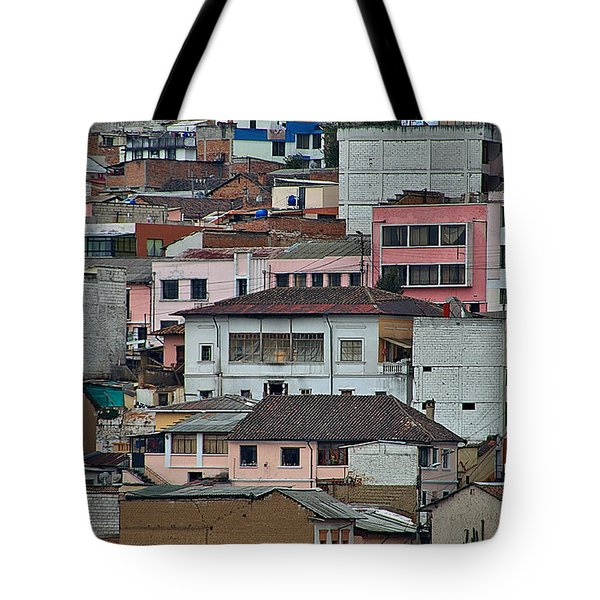 Tote Bag featuring the photograph Quito Buildings by Steven Richman