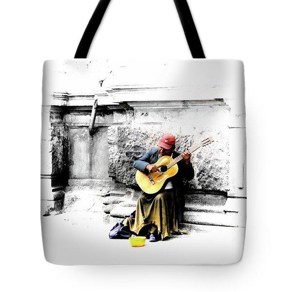 Quito Street Musician II Tote Bag
