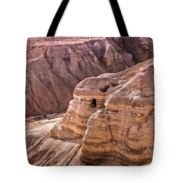 Qumran Cave 4, Israel Tote Bag