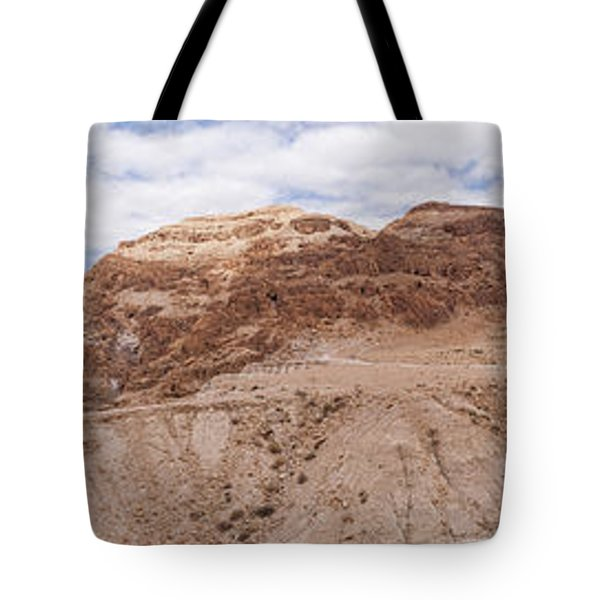 Tote Bag featuring the photograph Qumran National Park by Yoel Koskas