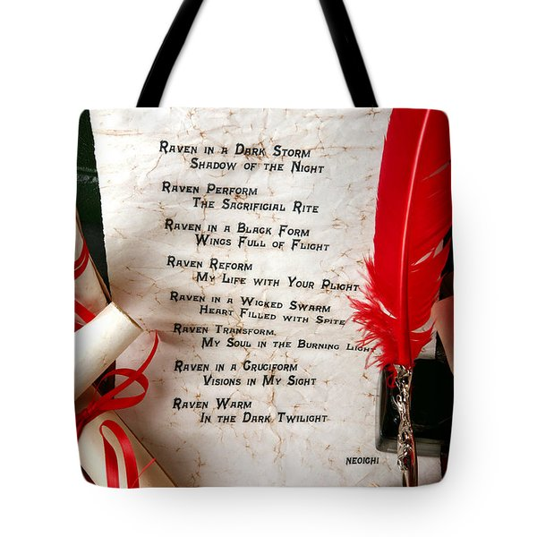 Quoth The Raven Knight Of Blackness Tote Bag