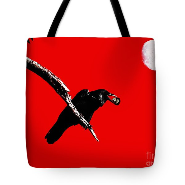 Quoth The Raven Nevermore . Red Tote Bag