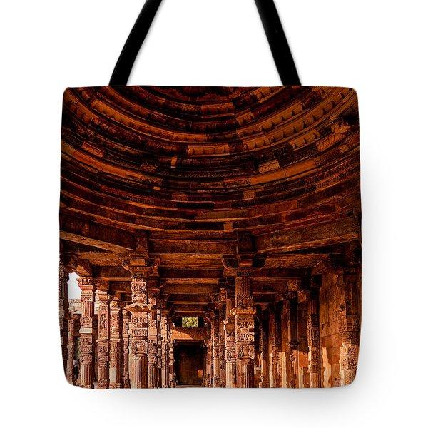 Qutub Minar Tote Bag