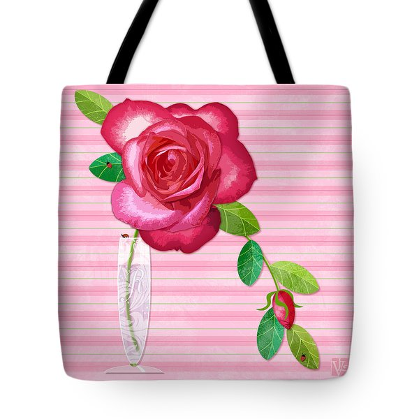R Is For Rose Tote Bag