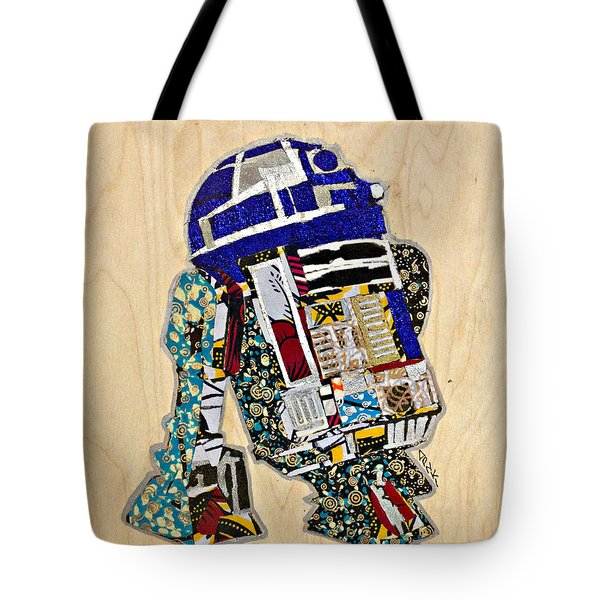 R2-d2 Star Wars Afrofuturist Collection Tote Bag by Apanaki Temitayo M