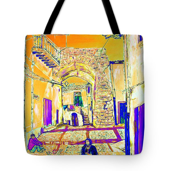 Tote Bag featuring the painting Rabato  by Loredana Messina