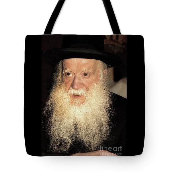 Tote Bag featuring the photograph Rabbi Yehudah Zev Segal by Doc Braham