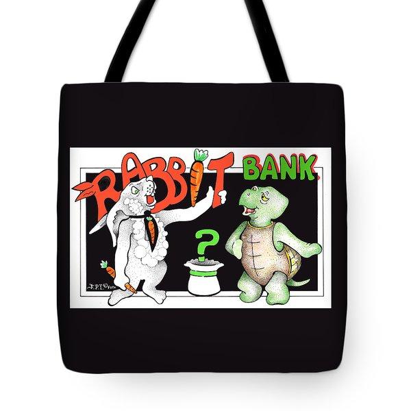 Rabbit Bank Ad 1 Tote Bag