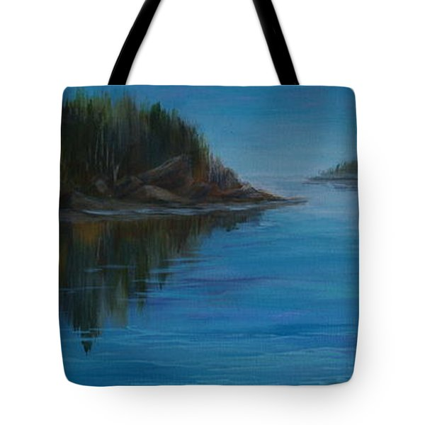 Rabbit Blanket Lake Tote Bag by Joanne Smoley