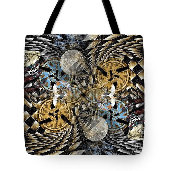 Rabbit Hole Clockworks Tote Bag by Misha Bean