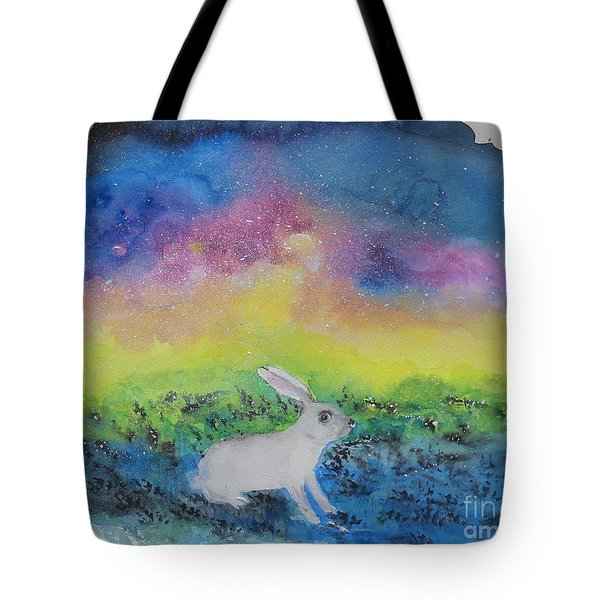 Rabbit In Galaxy 5 Tote Bag