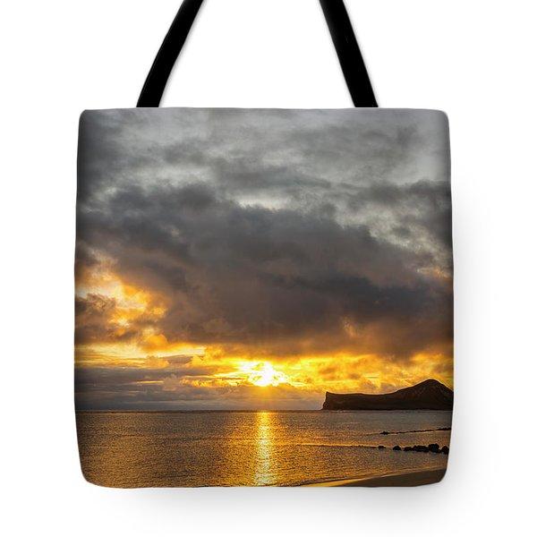 Rabbit Island Sunrise - Oahu Hawaii Tote Bag