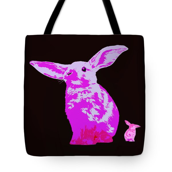 Rabbit Tote Bag by James Bethanis