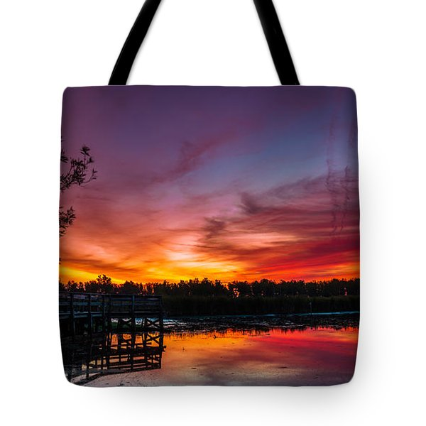 Rabbit Run Aurora Tote Bag by Chris Bordeleau