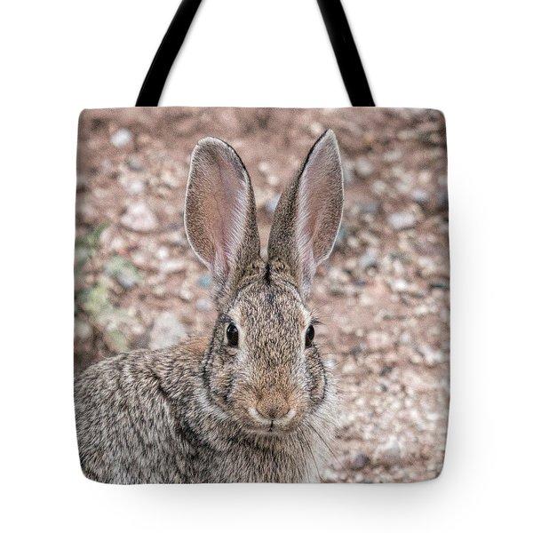 Rabbit Stare Tote Bag