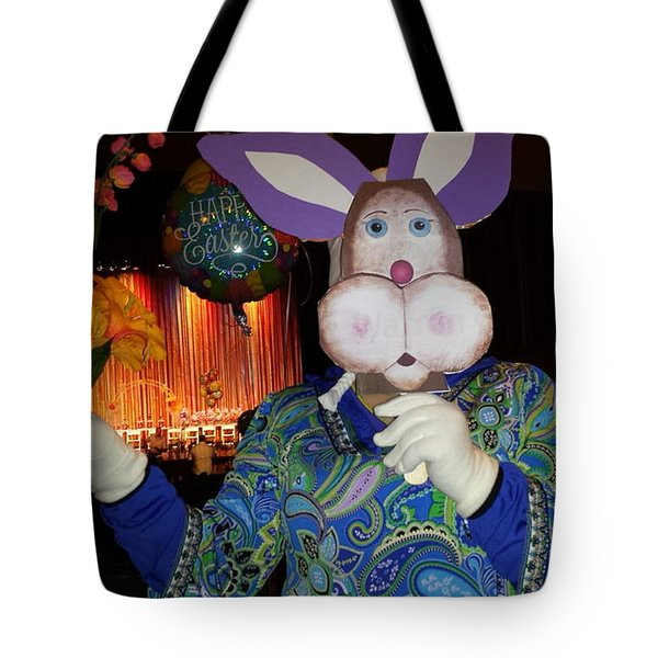 Rabbit With Bouquet Tote Bag