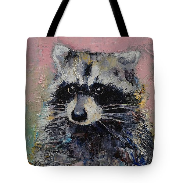 Raccoon Tote Bag by Michael Creese