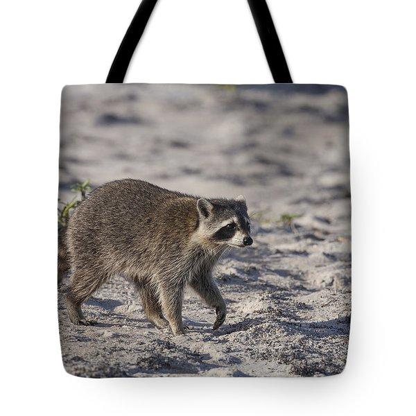 Raccoon On The Beach Tote Bag