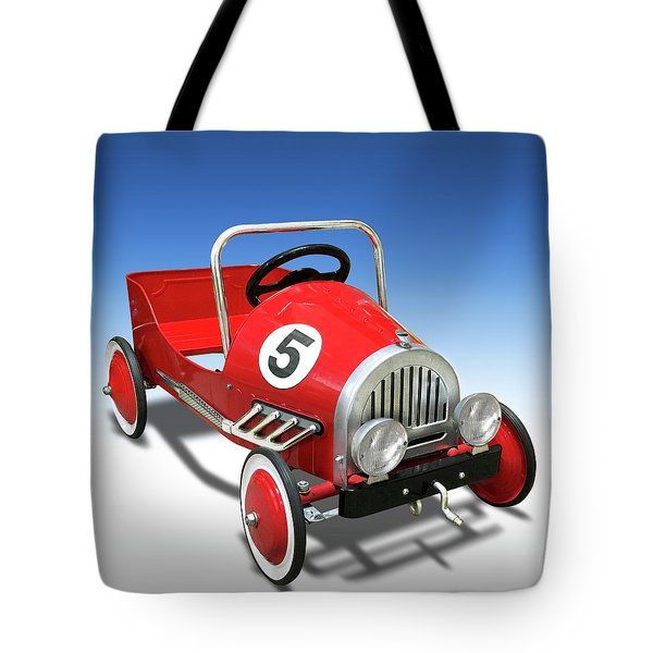 Tote Bag featuring the photograph Race Car Peddle Car by Mike McGlothlen
