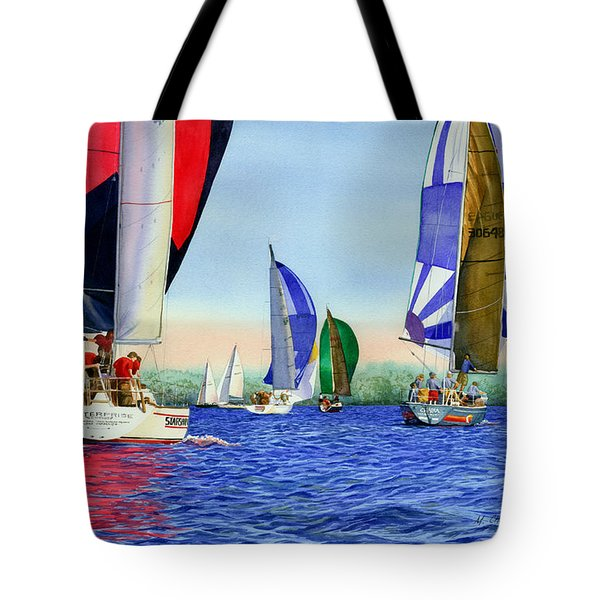 Race Night Colors Tote Bag by Marguerite Chadwick-Juner