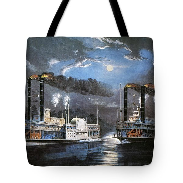 Race On Mississippi, 1860 Tote Bag by Granger
