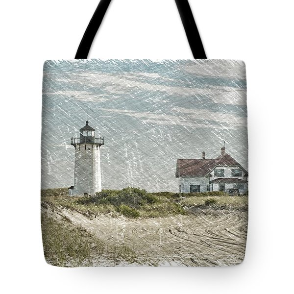 Race Point Lighthouse Tote Bag by Paul Miller
