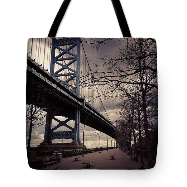 Race Street Pier Tote Bag by Katie Cupcakes