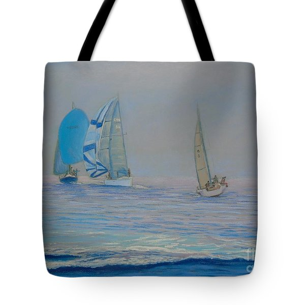 Raceing In The Fog Tote Bag