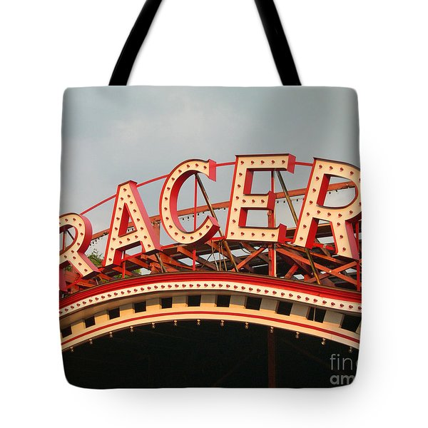 Racer Coaster Kennywood Park Tote Bag