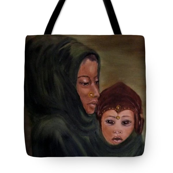 Tote Bag featuring the painting Rachel And Joseph by Annemeet Hasidi- van der Leij