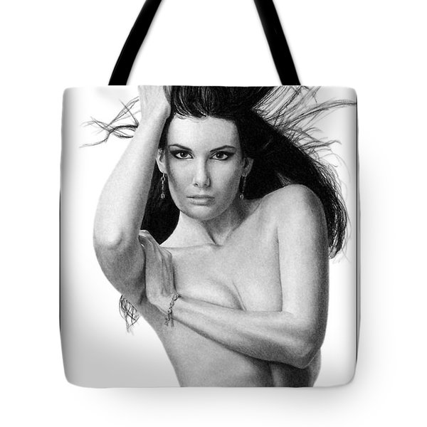 Tote Bag featuring the drawing Rachel by Joseph Ogle