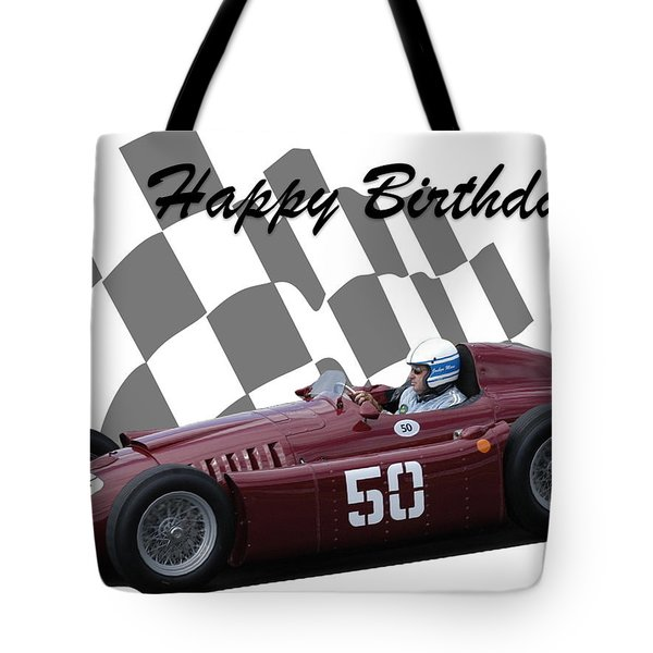 Racing Car Birthday Card 1 Tote Bag