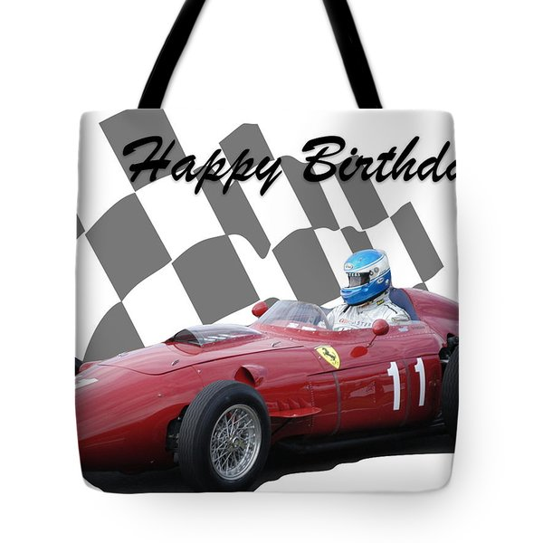 Racing Car Birthday Card 2 Tote Bag