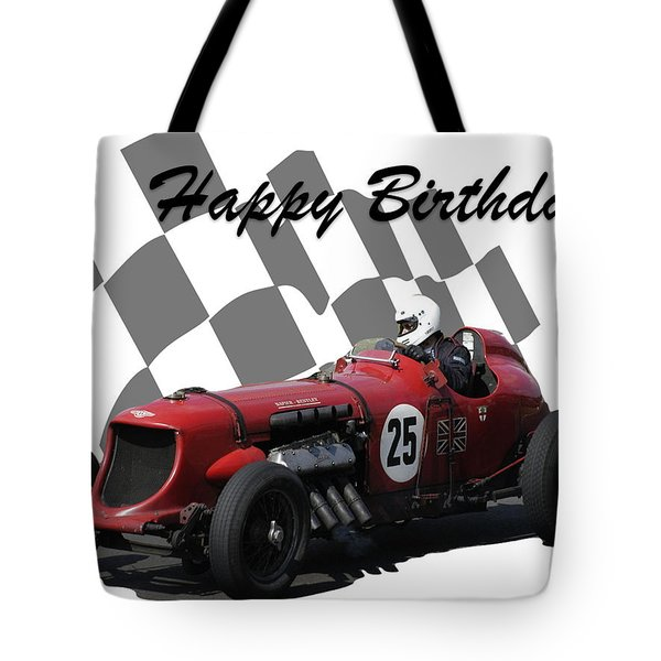 Racing Car Birthday Card 3 Tote Bag