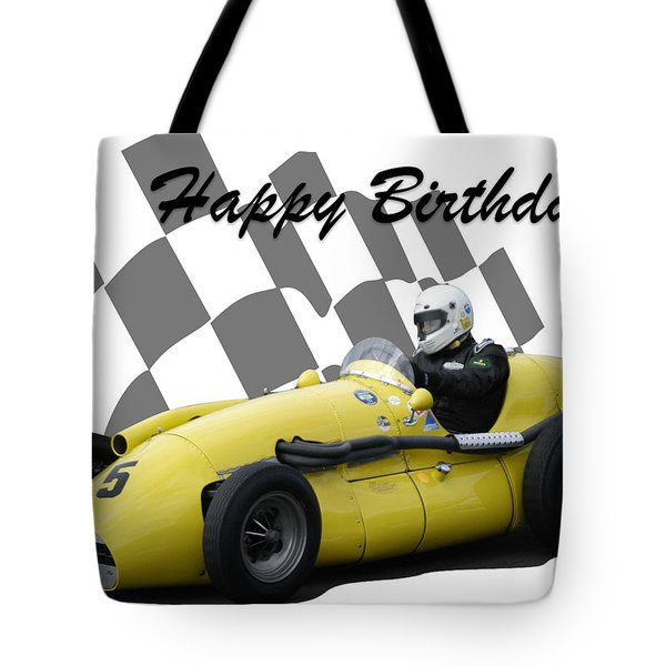 Racing Car Birthday Card 4 Tote Bag