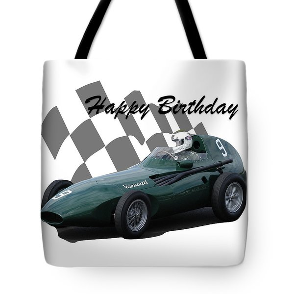 Racing Car Birthday Card 5 Tote Bag