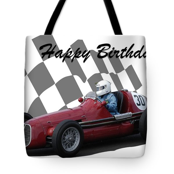 Racing Car Birthday Card 6 Tote Bag