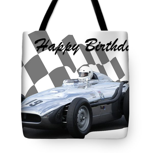 Racing Car Birthday Card 7 Tote Bag
