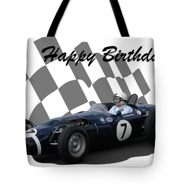 Racing Car Birthday Card 8 Tote Bag